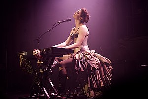 Amanda Palmer - Photo taken during her 2008 tour promoting Who Killed Amanda Palmer