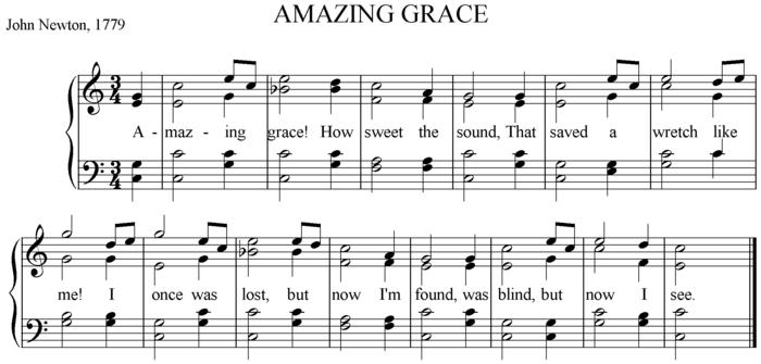 Pour comparaison, version du même morceau en notation de solfège