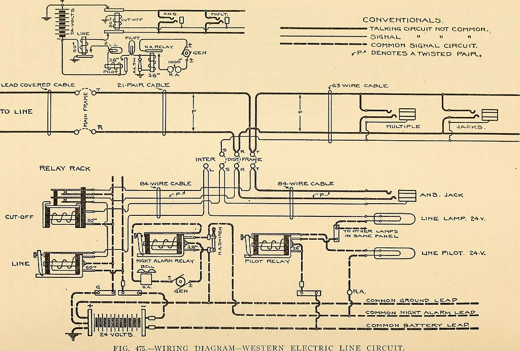 Western Electric Telephone Wiring Diagram