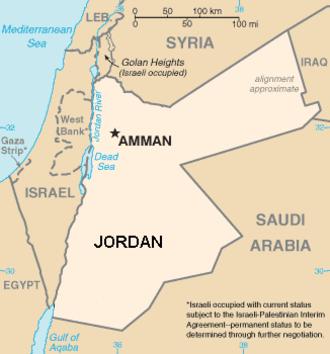 Greater Amman Municipality - Image: Amman location