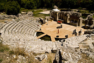 Religion in Albania - In the late Roman era, Christianity was preached in amphitheaters like this one in Butrint