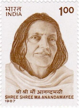 Anandamayi Ma - Anandamayi Ma on a 1987 stamp of India