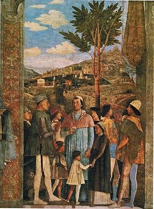 """Camera degli Sposi - The """"Meeting Scene""""."""