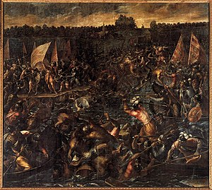Andrea Vicentino - King Pippin's Army Trying to Reach Venice - WGA25055.jpg