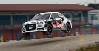 Andrew Jordan (racing driver) - Jordan driving an Audi S1 for EKS RX at the 2015 World RX of Italy.