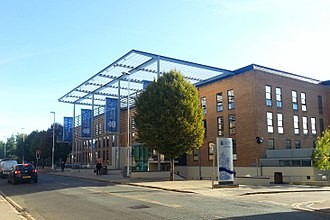 Anglia Ruskin University - Front view of Helmore Building of Anglia Ruskin Cambridge campus.