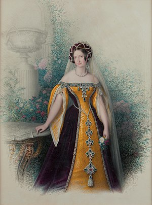 Anna Pavlovna of Russia - Anna Paulowna in court dress (Jean Chrétien Valois, 1845)