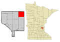 Anoka Cnty Minnesota Incorporated and Unincorporated areas Linwood Highlighted.png