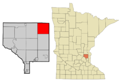 Location of Linwood Township (unincorporated)within Anoka County, Minnesota