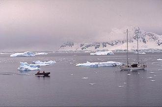 Tierra del Fuego Province, Argentina - Watercraft in Esperanza Bay, Antarctica.