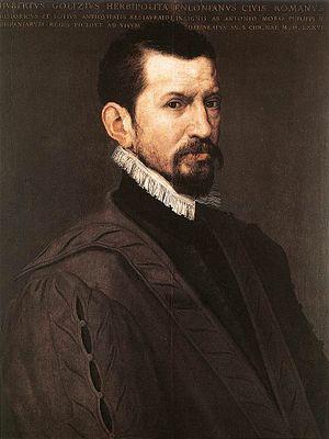 Hubert Goltzius - Hubert Goltzius by Anthonis Mor, 1574