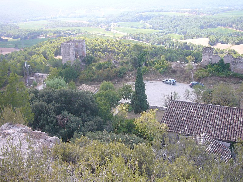 View of Santa Maria de Miralles, Anoia, Catalonia, from the castle; image from Wikimedia Commons