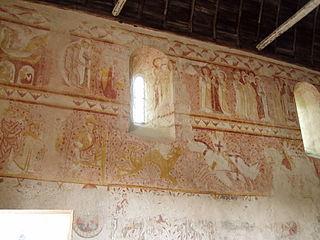 peintures murales de l'église Notre-Dame d'Antigny