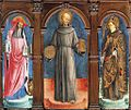 Antonio Vivarini - I Santi Girolamo, Bernardino da Siena e Ludovico di Tolosa - Chiesa San Francesco della Vigna, Venezia.jpg