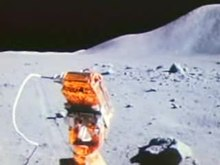 Aboard the Lunar Roving Vehicle