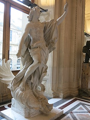 Athletics in epic poetry - Apollo killing the Python snake. Louvre museum (Paris, France).