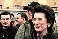 April 11, 2009. Nino Burjanadze in front of the parliament building.jpg