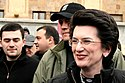 April 11, 2009. Nino Burjanadze in front of the parliament building.jpg