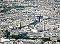 Arc de Triomphe from the Tour Montparnasse, Paris May 2014.jpg