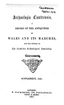 Archaeologia Cambrensis (1846-1899) (Welsh Journal).jpg