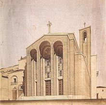 Quadro a tempera di E. Lapadula per la Chiesa di san Rocco a Pisticci (Matera) del 1934