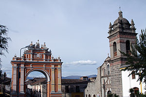 Ayacucho - Arch of the triumph and San Francisco de Asís church.