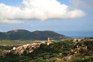 Cateri - Cateri, the Balagne village, and the Mediterranean Sea