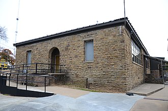 National Register of Historic Places listings in Le Flore County, Oklahoma - Image: Arkoma School, North View