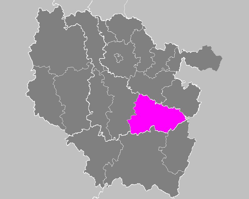 Location of Lunéville in Lorraine