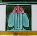 Art Nouveau tile - geograph.org.uk - 559552.jpg