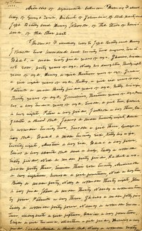 Handwritten page from the articles of agreement for the slave sale