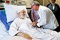 Artists and writers visiting Ali Khamenei in hospital 11.jpg