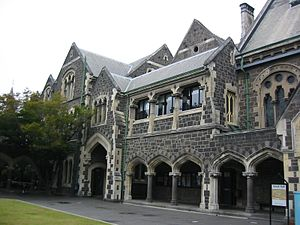 University of Canterbury - Former University of Canterbury campus in the city centre, today the Christchurch Arts Centre