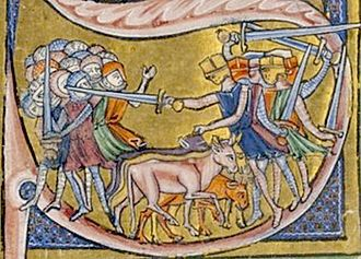 Battle of Ascalon - 13th century illustration of the battle