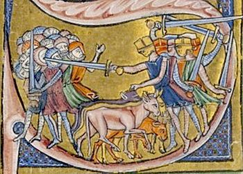 Battle of Ascalon, depiction from the 13th century