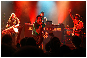 Asian Dub Foundation - Asian Dub Foundation performing live in Berlin, Germany in November 2008