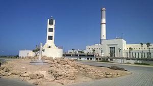 Tel Aviv Port - Tel Aviv Port Light with archaeological site of Tel Kudadi