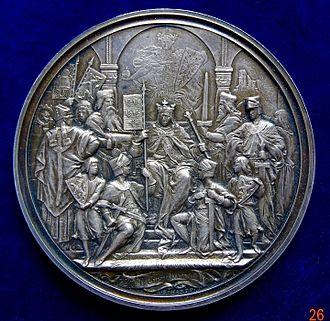 Hoftag - Image: Augsburg, Silver Medal 600th Anniversary of 1282 Hoftag, obverse