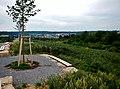 """Ausblick Richtung Malmsheim - Natur- und Erholungsgebiet """"Berg"""" - Kulturlandschaft und Naturschutz, Das Gebiet """"Berg"""" zeigt uns heute einen Ausschnitt aus der alten Kulturlandschaft, wie sie früher im Heckengäu weit ve - panoramio.jpg"""