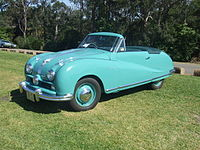 Austin A90 Atlantic Sports Convertible (with top down)