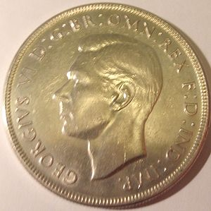 Crown (Australian coin) - Image: Australian crown obverse side