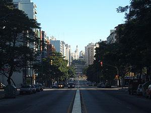 Libertador Avenue - Libertador Avenue as seen from the Palacio Legislativo