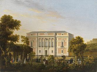 José María Avrial - The Museo del Prado, seen from the  Botanical Gardens