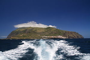 Corvo Island - The island of Corvo as seen from the Corvo-Flores Channel