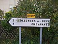 Bévy - Panneaux directionnels vers Collonges et Chevannes (nov 2018).jpg