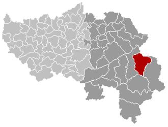 Bütgenbach - Image: Bütgenbach Liège Belgium Map