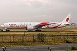 "B-2035 Air China Boeing 777-39L(ER) in ""Smiling China"" special colours livery @ Frankfurt Rhein-Main International (FRA EDDF) (41961143354).jpg"