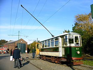 British Electric Traction - Wolverhampton District Electric Tramways Company preserved tramcar at the Black Country Museum