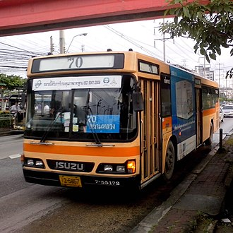 Bang Sue Junction railway station - Route No.70 from Prachaniwet 3 via Bung Sue Junction to Sanam Luang