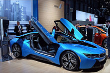Bmw I8 Production Version Exhibited At The 2017 New York International Auto Show